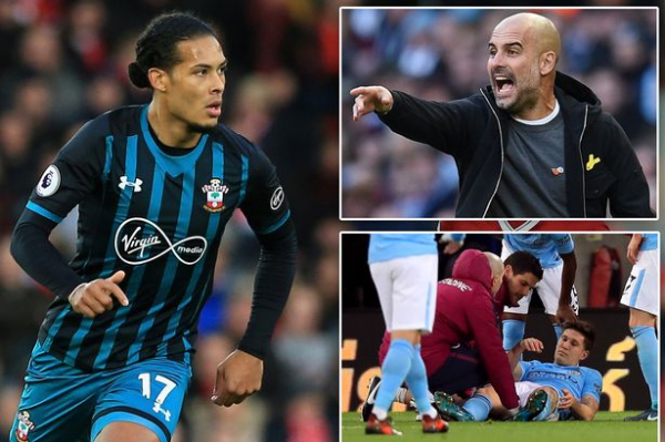 Manchester City set for January battle with Liverpool for Southampton's Virgil van Dijk after John Stones injury