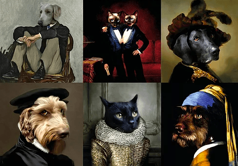 Brighten up your life with these luxurious customizable pet portraits