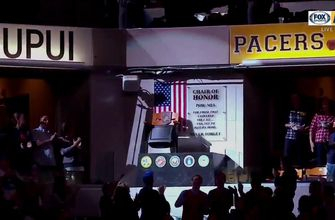 Pacers honor veterans with POW-MIA Chair of Honor