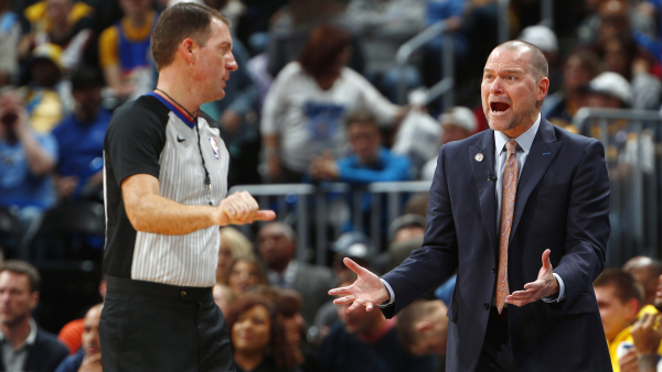 Nuggets' coach Mike Malone suspended one game for confronting referee