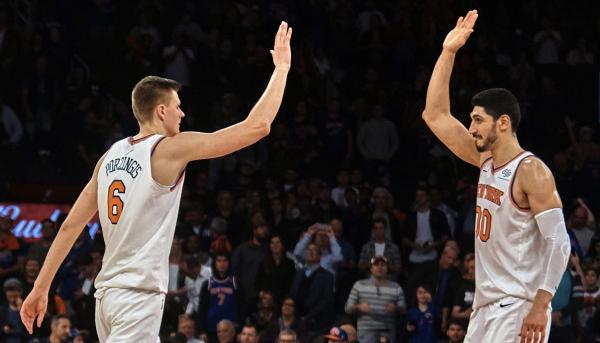 LeBron's Knicks comments prompt defense from Porzingis, Kanter