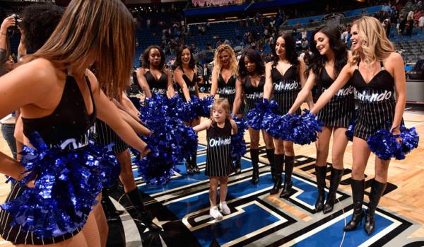 Orlando Magic Dancers Help Make Young Cheerleader's Dream Come True