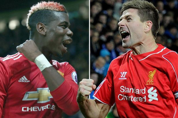"""Manchester United's Paul Pogba is """"great"""" but nowhere near the levels Steven Gerrard reached, says Rafa Benitez"""