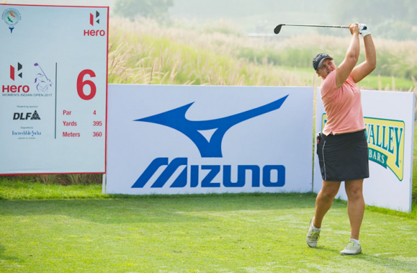 Liz Young takes clubhouse lead in India
