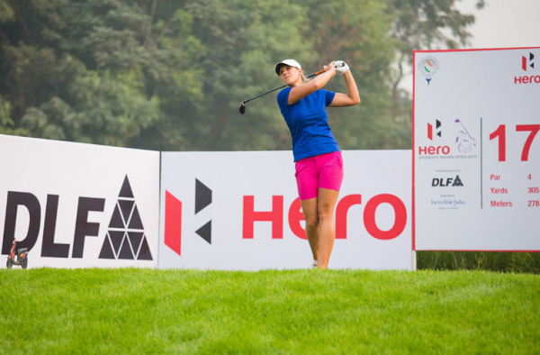 Marianne Skarpnord on top after equalling course record