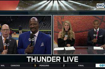 Playoff atmosphere for GSW/OKC   Thunder Live