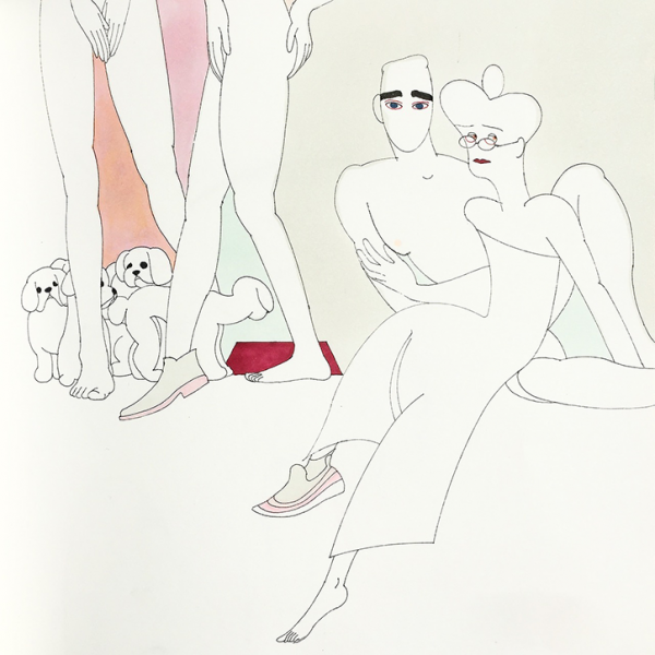 Saehan Park's uses curved lines and subtle colours for her characterful illustrations