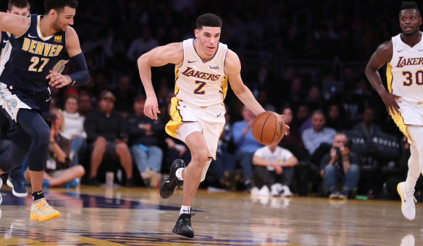 Lonzo's Second Triple-Double Leads to 127 Points, Win Over Nuggets