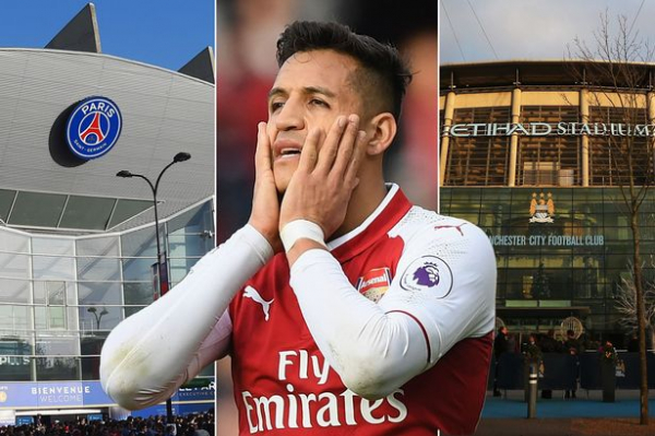 Arsenal's Alexis Sanchez set for January transfer tug-of-war as Manchester City face revived competition from PSG