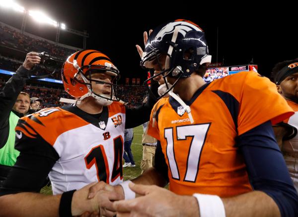 Daltons 3 TDs lead Bengals past Broncos 20-17