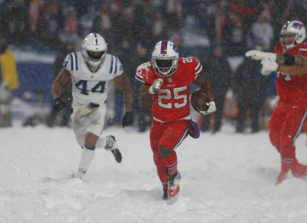 Bills pull out wild OT win over Colts in the snow