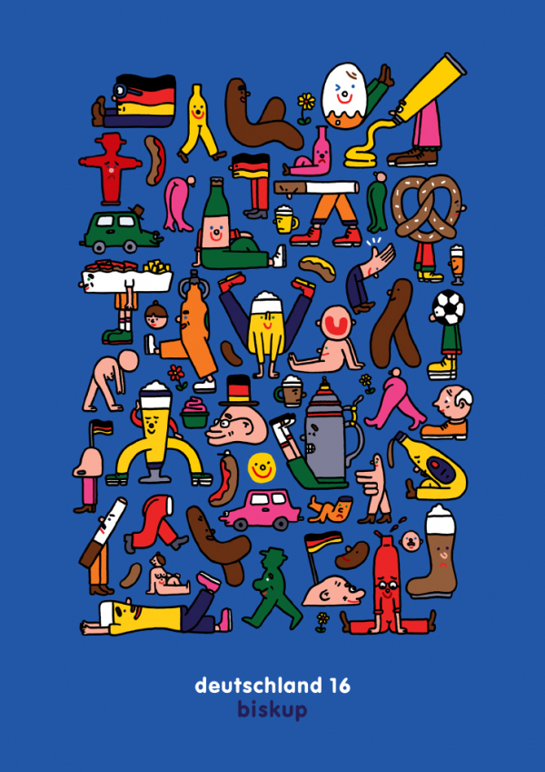 The instantly recognisable and tireless output of illustrator David Biskup