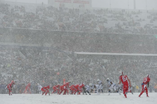 The 'Snowbowl': Bills and Colts fight out incredible NFL battle in huge snowstorm