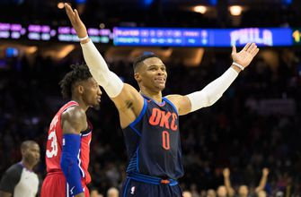 Westbrook triple-double keys OKC in 3OT thriller vs 76ers