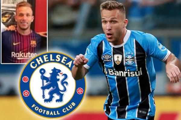 Chelsea eye Arthur transfer as Gremio fume over photo of him in Barcelona shirt with Spanish giants' representative