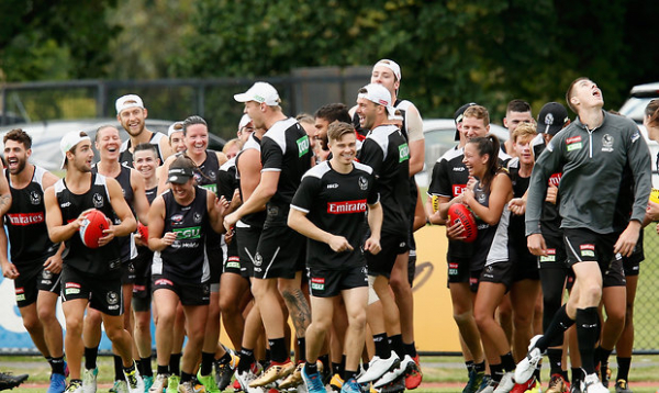 Mixed drills: Latest pics from the Pies' joint session