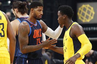 Thunder help George prevail in first trip back to Indiana