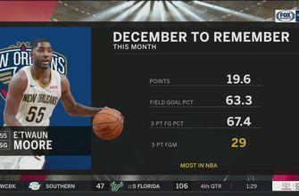 E'twaun Moore having a December to Remember | Pelicans Live