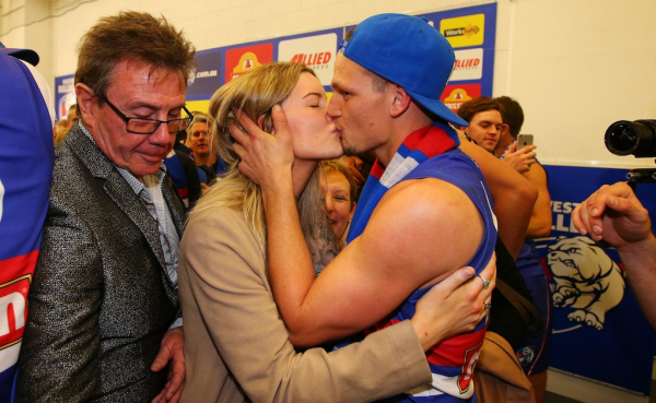 Western Bulldogs premiership player Clay Smith takes on his wife's last name