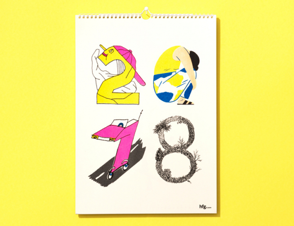 Eike König's students create a courageous calendar featuring a host of exciting illustrative talent
