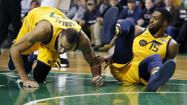 Report: Utah's Rudy Gobert out month with knee sprain, bone bruise