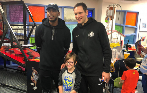 Pacers Pay Visit to Peyton Manning Children's Hospital