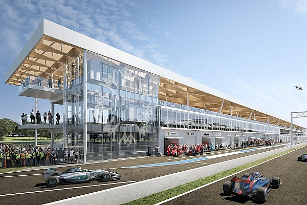 Renderings of the new pit building of the Montréal F1 circuit