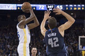 Durant, Warriors top Mavericks 112-97