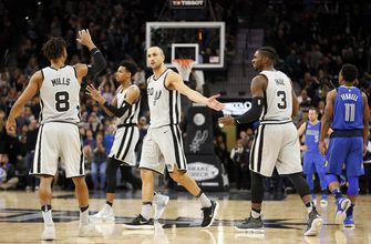 Spurs close on 13-0 run to rally past Mavericks, 98-96