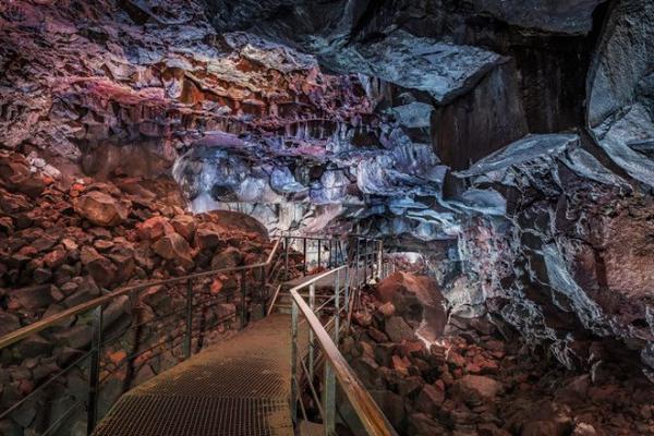 Party inside a glacier and lava tunnel at Secret Solstice Festival