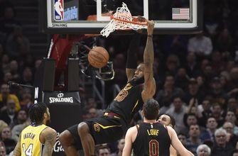 LeBron records triple-double, ties a legend as Cavs roll past Lakers, 121-112