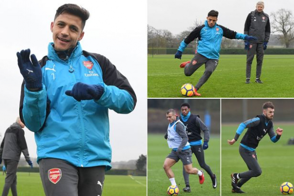 Alexis Sanchez prepares for Arsenal's trip to Bournemouth as Man United target's 'family arrive in London'
