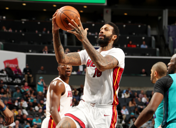 James Johnson Scores Five Points in Seven Seconds As Heat Beat Hornets