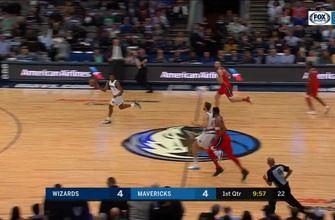 DSJ does 360-degree dunk vs. Washington Wizards | Wizards at Mavericks