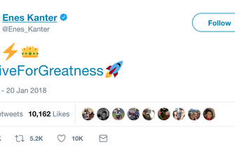 Twitter Reactions: Enes Kanter roasts LeBron after Cavs blowout loss to Thunder