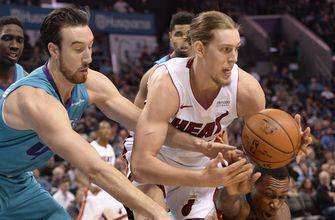 Heat reel off 6 unanswered points in waning seconds to cap comeback win over Hornets