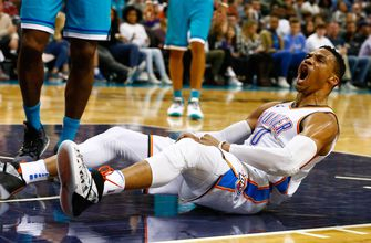 Westbrook leads Thunder past Hornets, 101-91
