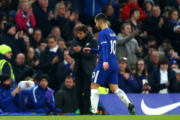 Antonio Conte reveals why he subbed off Eden Hazard against both Leicester and Arsenal when chasing a win
