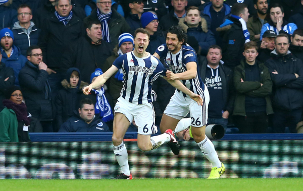 Alan Pardew secures first Premier League win as West Brom beat Brighton to lift off the bottom of the table