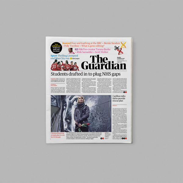 The Guardian unveils redesign across print and online