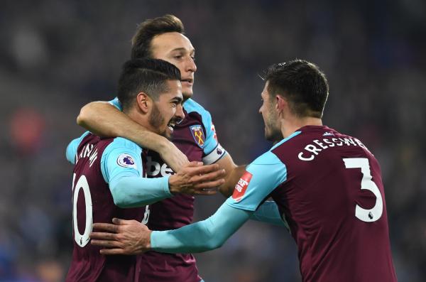 Manuel Lanzini scores twice as West Ham put Huddersfield to the sword