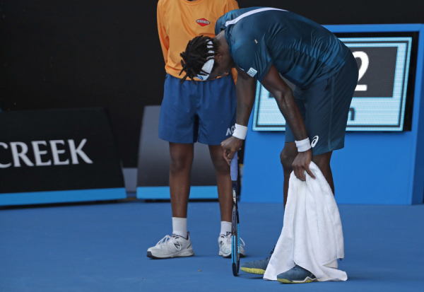 Gael Monfils describes extreme heat at Australian Open as Melbourne swelters