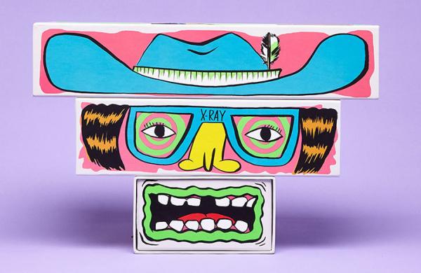"Stevie Gee adorns Stella McCartney Kids packaging with mix-and-match ""hybrid weirdos"""