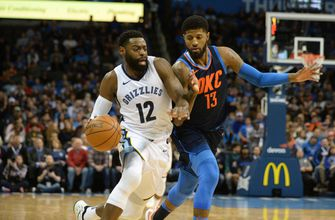 George has 33 points, short-handed Thunder beat Grizzlies