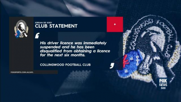 Collingwood set to decide on punishment for Jordan De Goey