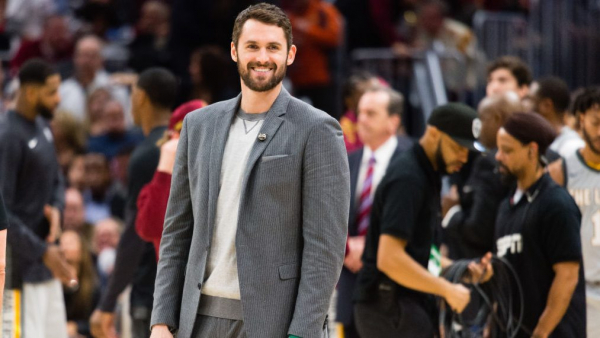 Kevin Love says about a month until he's back on court with new-look Cavaliers