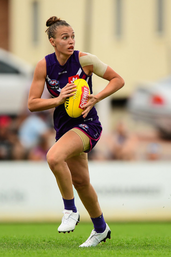 AFLW: Fremantle star takes 50-50 chance