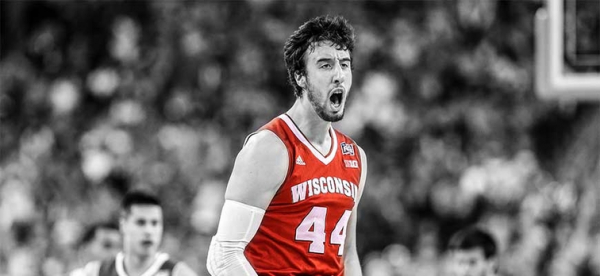 Frank Kaminsky's #44 Rises to Rafters at Wisconsin