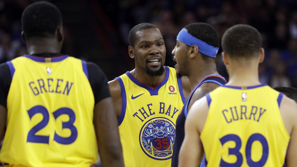 After two lopsided losses to OKC, Kevin Durant leads Warriors rout