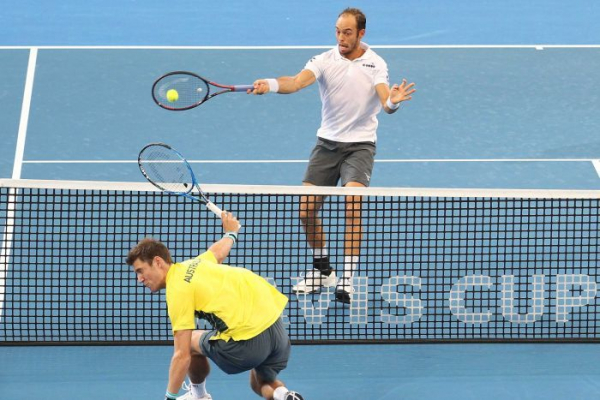 Germany edges ahead of Australia with Davis Cup doubles win